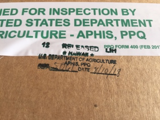 INSPECTED AND RELEASED FOR SHIPMENT
