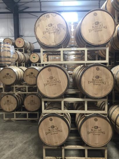 Kapahi Bourbon resting in the warehouse.